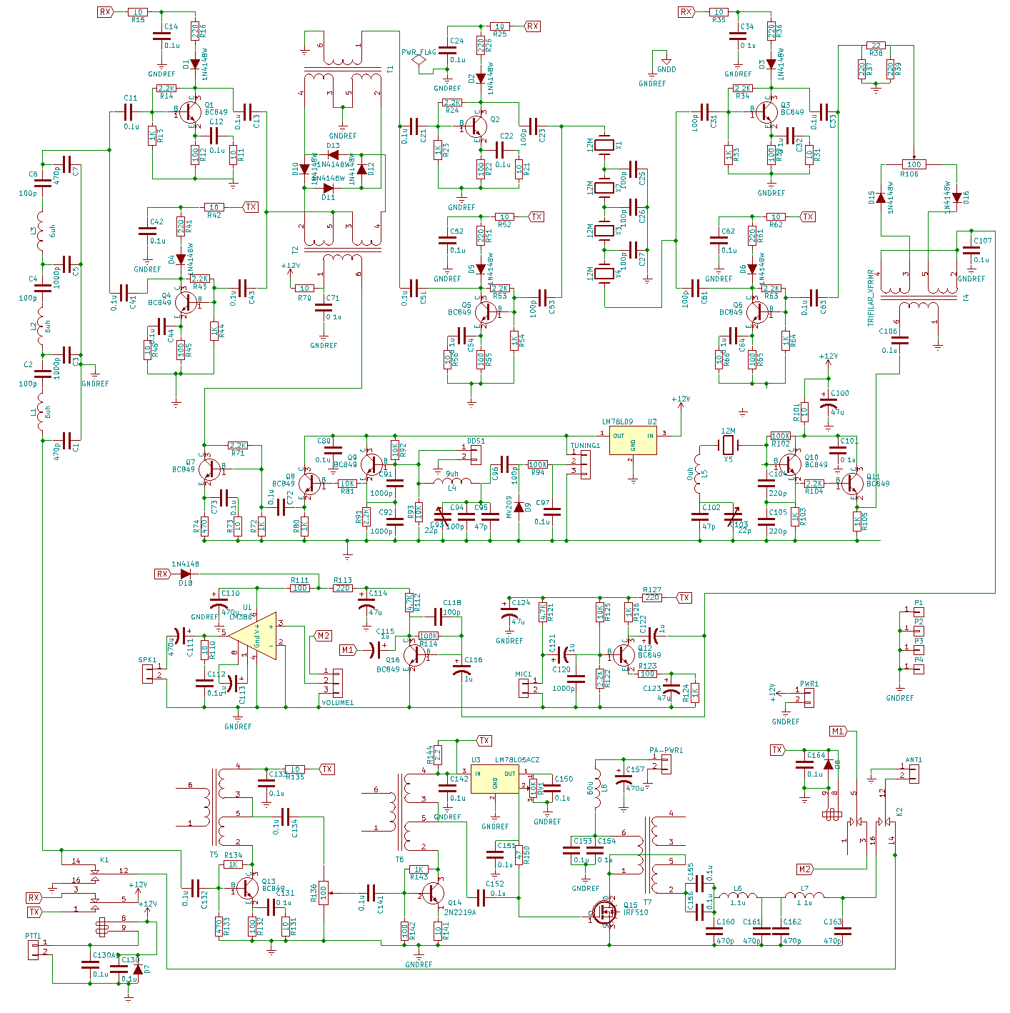 Bitx40 Circuit Description Hf Signals The World In A Parallel Diagram Or Schematic Each Individual